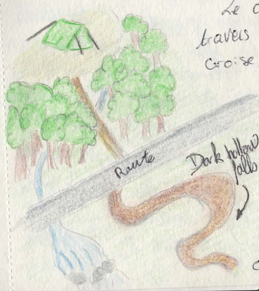Dark Hollow falls map